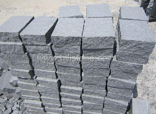 G654 Granite Flamed + Natural edges Cobblestone