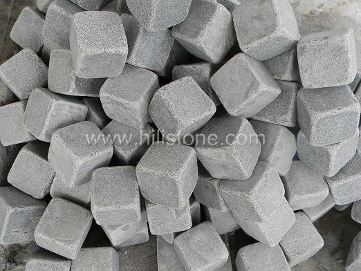 G654 Granite Flamed + Tumbled Cobblestone