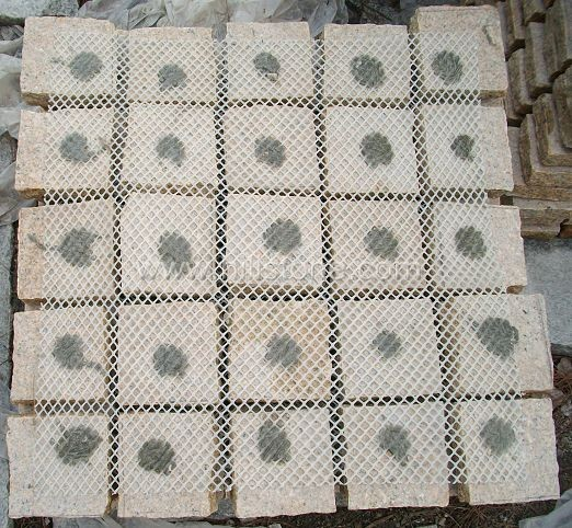 G682 Cobblestone on Mesh-Natural-Square Shape