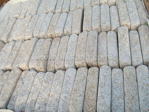 G682 Granite Bush-hammered + Tumbled Cobblestone