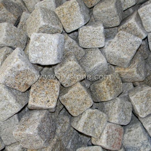 G682 Granite Natural + Tumbled Cobblestone