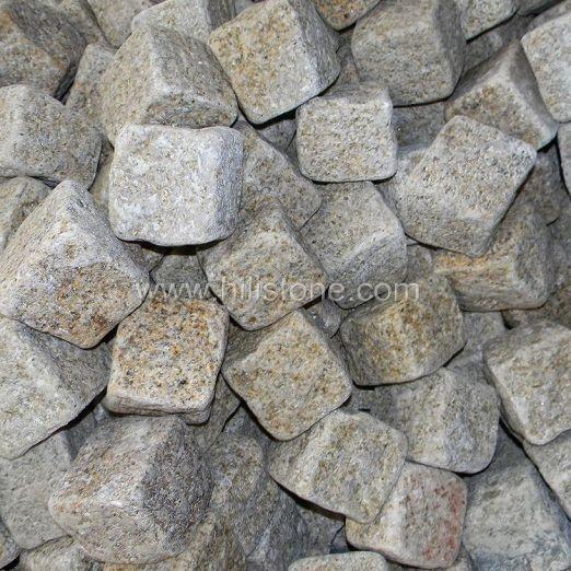 G682 Granite Natural + Tumbled Cobblestone