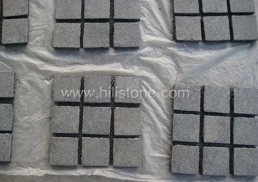 G684 Cobblestone on Mesh-Flamed - Square Shape