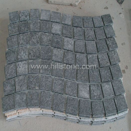 G684 Cobblestone on Mesh-Flamed - Wave Shape