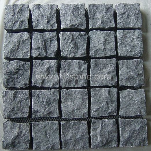 G684 Cobblestone on Mesh-Natural-Square Shape