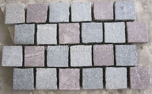 Porphyry Cobblestone on Mesh-Flamed - Offset Type