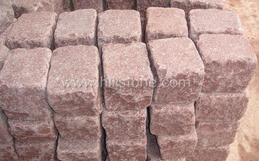 Red Porphyry A Flamed+Tumbled Cobblestone