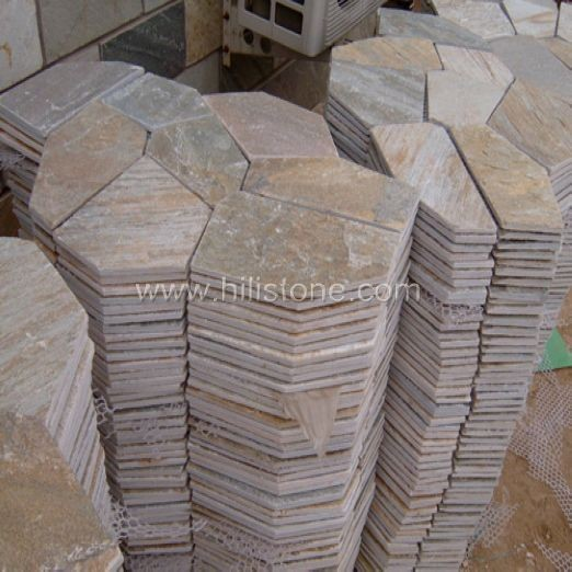 Yellow Quartzite Crazy Paving
