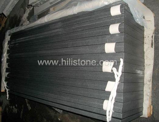 G654 Blue Black Granite Chiselled Paving Stone