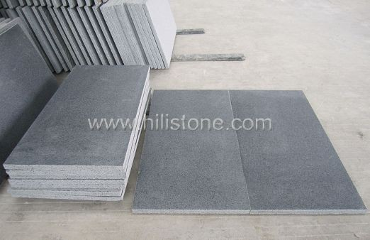 G654 Blue Black Granite Paving - Leather Finish
