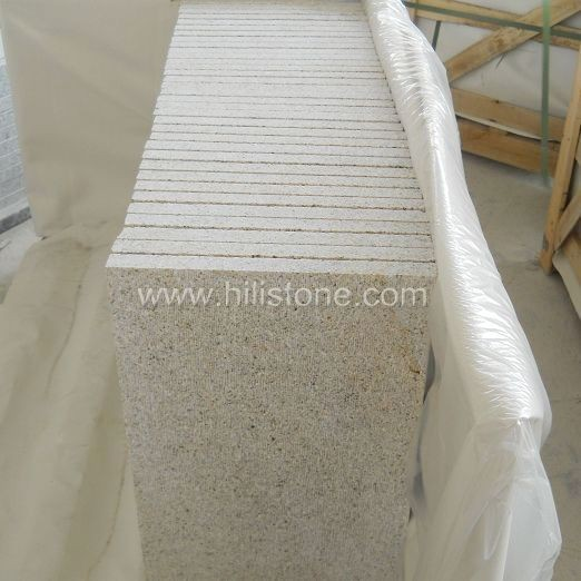 G682 Yellow Granite Chiselled Paving Stone