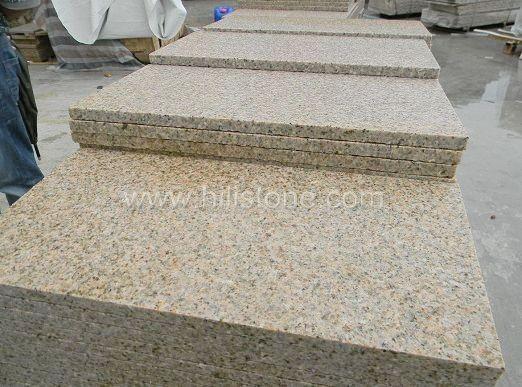 G682 Yellow Granite Flamed Paving Stone