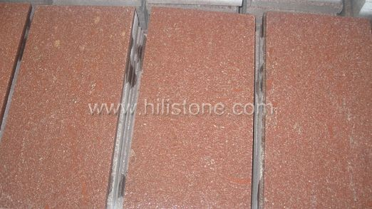 Red Porphyry Flamed Paving Stone - sawn edges