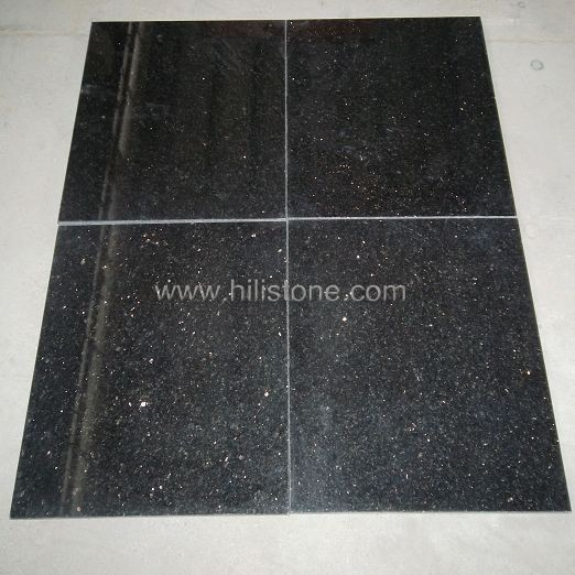 Black Galaxy Granite Polished Tiles