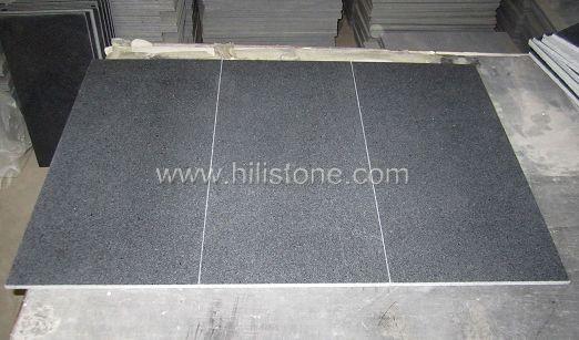 G654 Blue Black Granite Honed Tiles