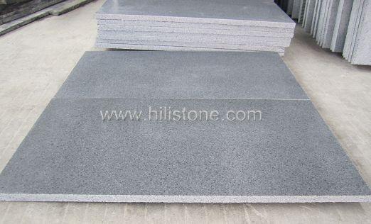 G654 Blue Black Granite Tiles - Leather finish