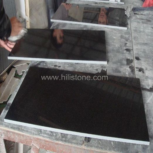 Shanxi Black Granite Polished Tiles