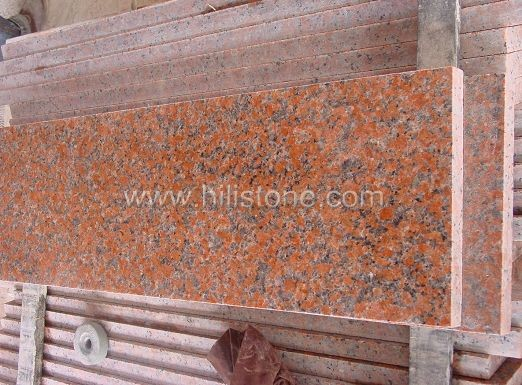 G562 Maple Red Granite Polished Step