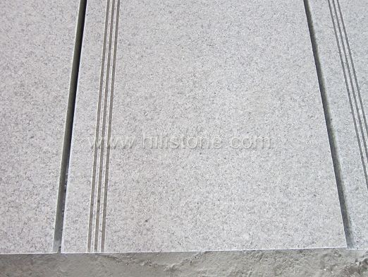 G603 Granite Flamed Step with Anti-slippery Strips