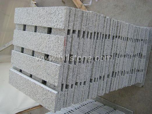 G603 Silver Grey Granite Flamed Step