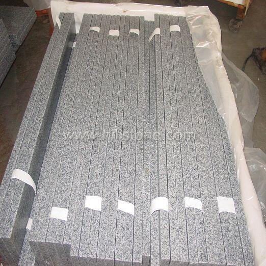 G633 Grey Granite Flamed+3xbrushed Step