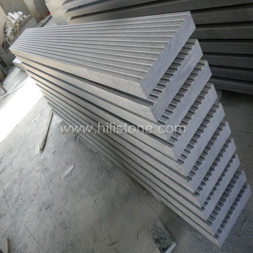 G654 Granite Flamed Step with Grooves