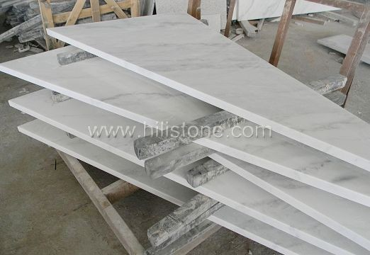 Guangxi White Marble Polished Step
