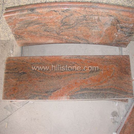 Imported Multicolor Red Granite Polished Step