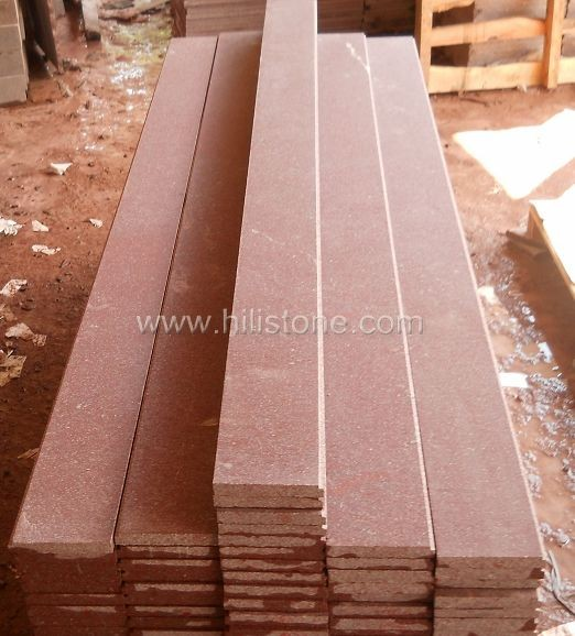 Red Porphyry Honed Step