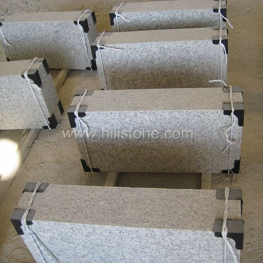 G602 Silver Grey Granite Flamed Stone Block Step