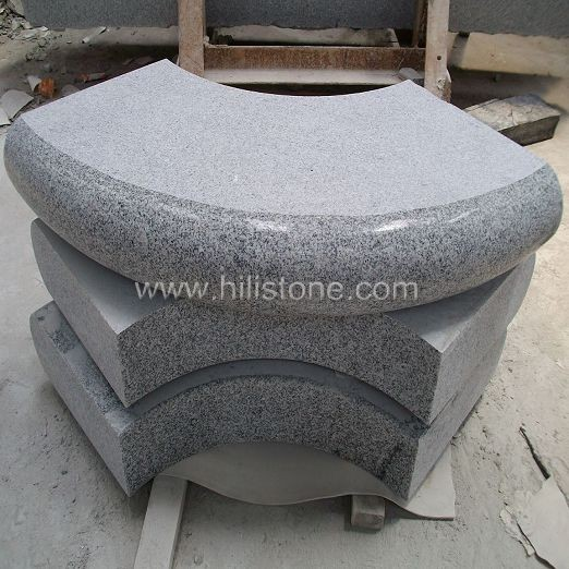 G603 Silver Grey Granite Flamed Stone Block Step