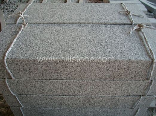 G603 Silver Grey Granite Flamed Stone Block Step