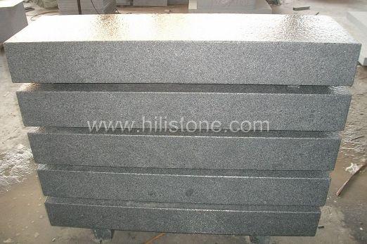 G654 Blue Black Granite Flamed Stone Block Step