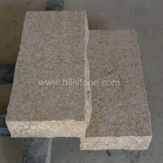 G682 Yellow Granite Flamed Stone Block Step