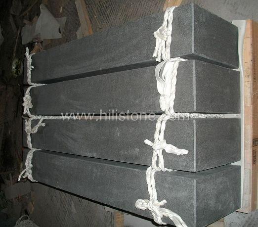 Shanxi Black Granite Flamed Stone Block Step