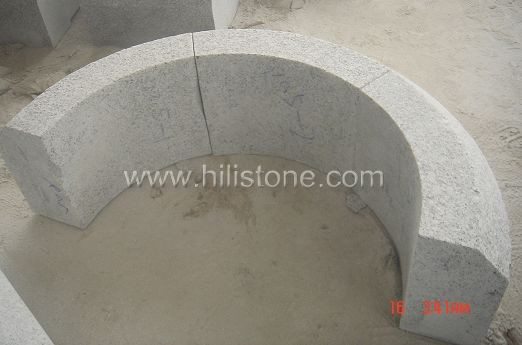 G603 Silver Grey Granite Flamed Curved Stone Kerbs