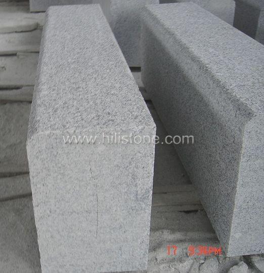 G603 Silver Grey Granite Flamed Stone Kerbs