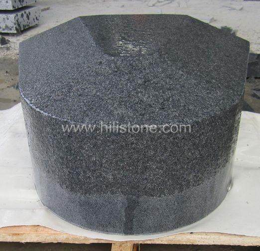 G654 Blue Black Flamed Corner Stone Kerbs