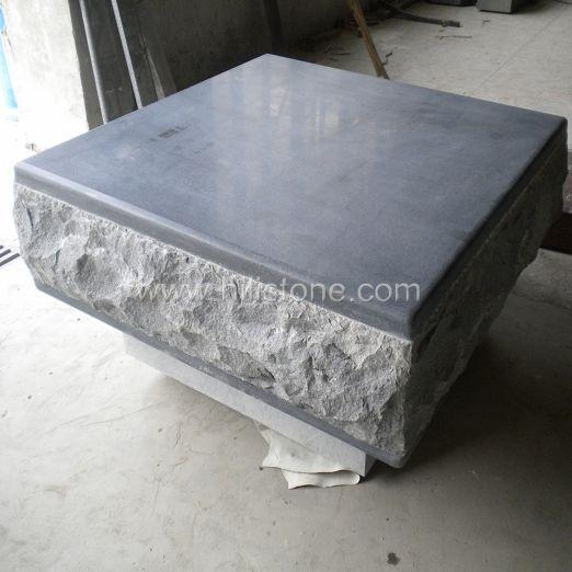 G654 Blue Black Granite Honed Pouf Kerbs