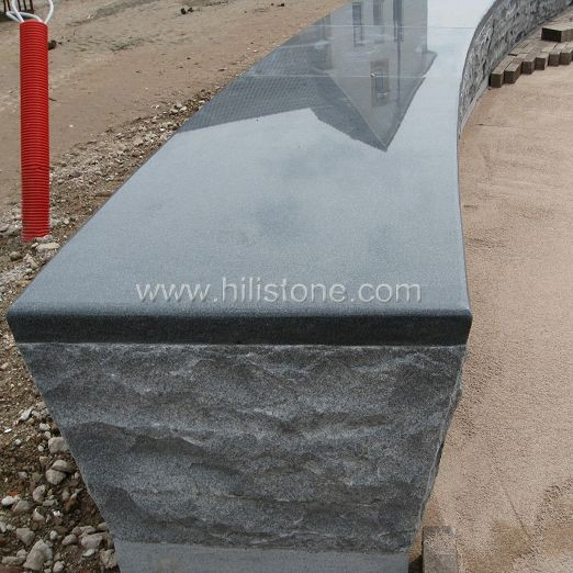 G654 Blue Black Polished Bench Stone Kerbs