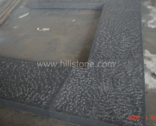 G654 Blue Black Rough Picked Stone Kerbs
