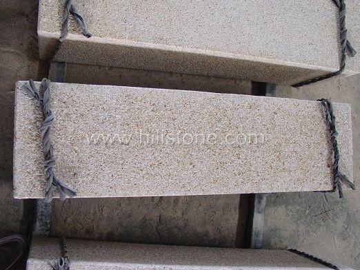 G682 Yellow Granite Bush-hammered Stone Kerbs
