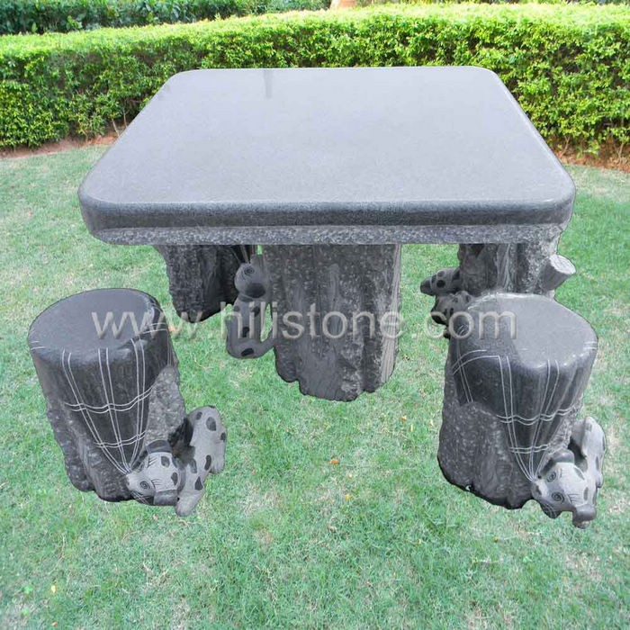 Stone furniture Table & Bench 11