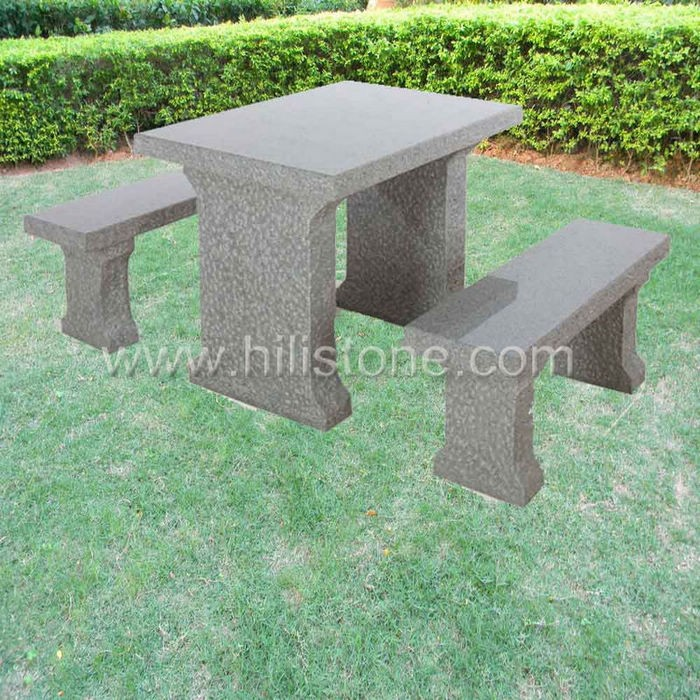 Stone furniture Table & Bench 2