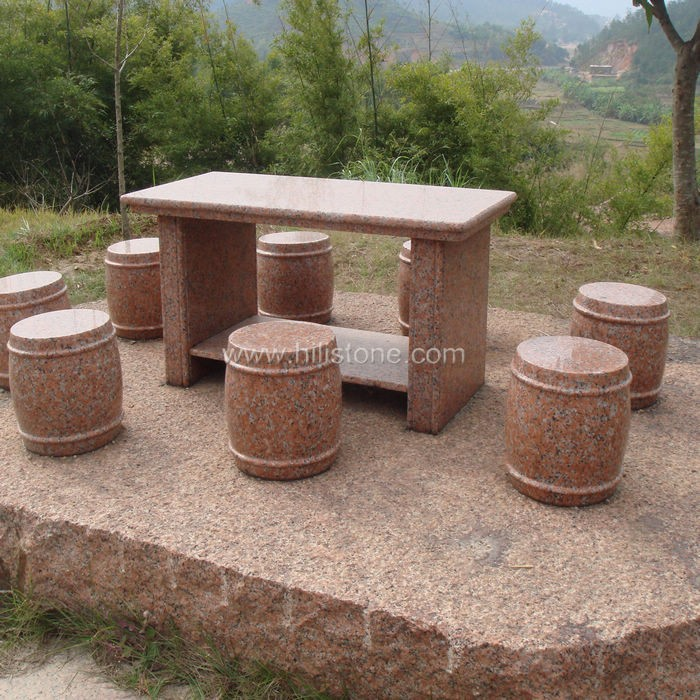 Stone furniture Table & Bench 28