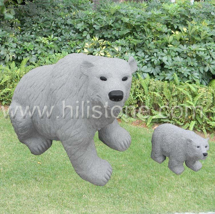 Stone Animal Sculpture Bear 1