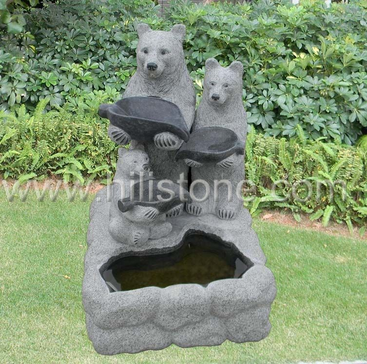 Stone Animal Sculpture Bear 2