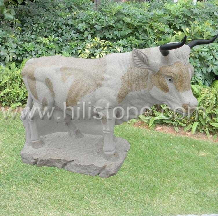 Stone Animal Sculpture Bull 1