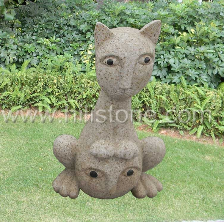 Stone Animal Sculpture Cat 1