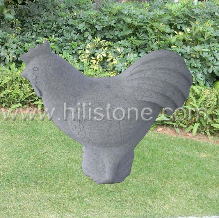 Stone Animal Sculpture Chicken 2